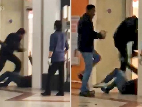 Lidl security guard filmed punching and stamping on shopper