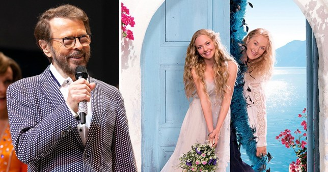 Abba star Bjorn Ulvaeus with Mamma Mia! actors Meryl Streep and Amanda Seyfried
