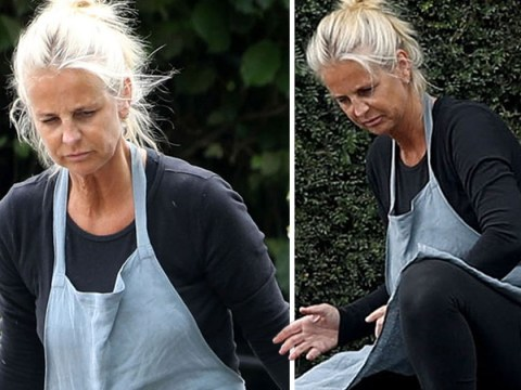 Ulrika Jonsson gets to grips with her weeds after putting 'sexless marriage' on blast