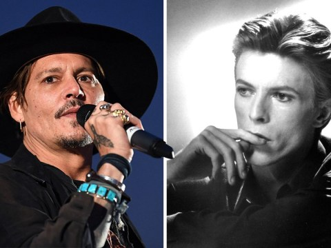 Johnny Depp sings David Bowie's Heroes with supergroup Hollywood Vampires