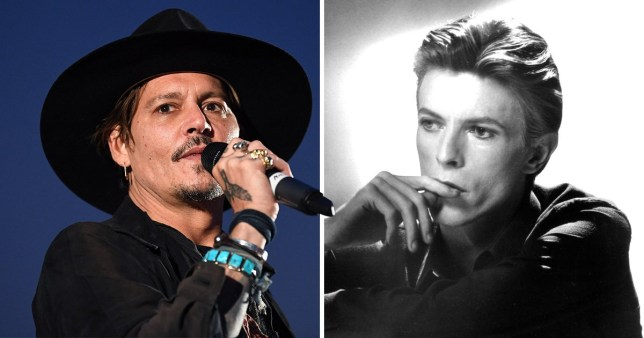 Johnny Depp sings David Bowie's Heroes
