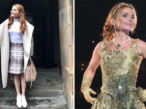 Geri Horner shines in tartan in Scotland before Spice Girls' Edinburgh show