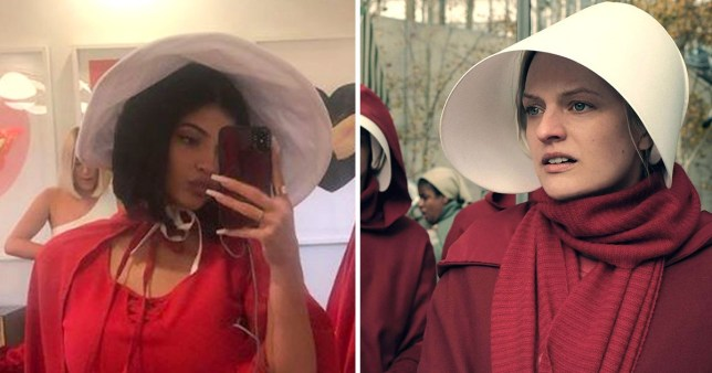 Kylie Jenner at her Handmaid Tale's birthday party