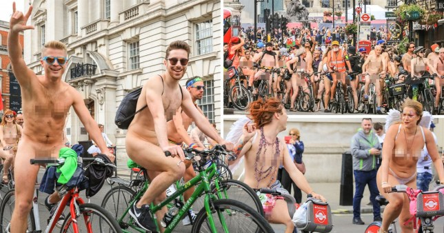 Naked Cyclists Pictured Riding Through London On Boris -1616