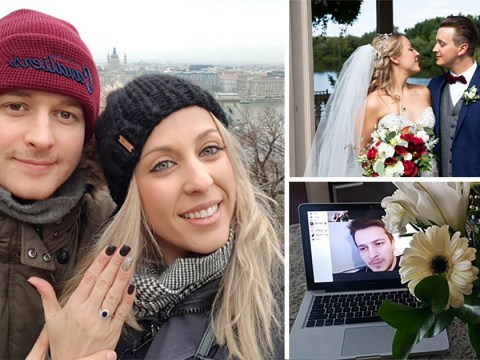 Londoner who matched on Bumble with a Canadian woman while passing through airport marries her
