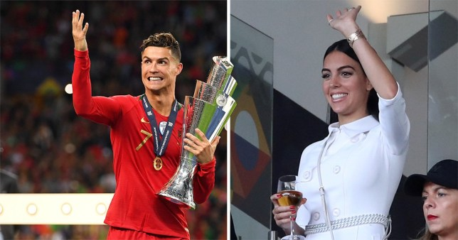 Cristiano Ronaldo's girlfriend watches Portugal play Netherlands in Nations League final