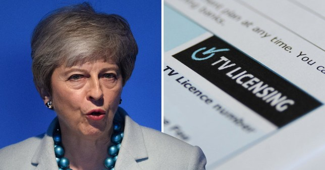 Prime Minister Theresa May is 'very disappointed' with the decision not to continue with free TV licences