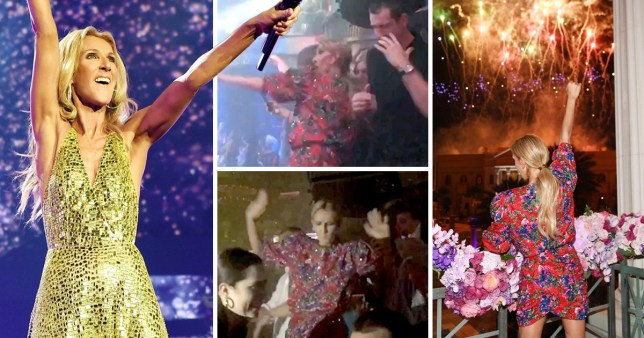 Celine Dion throws some shapes partying until the early hours (Picture: Getty)
