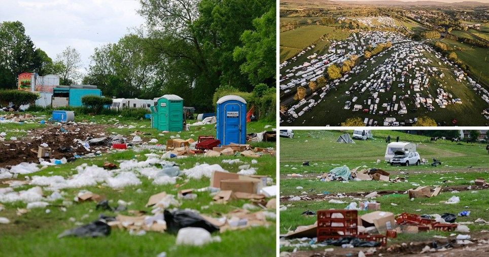 Appleby Horse Festival, rubbish
