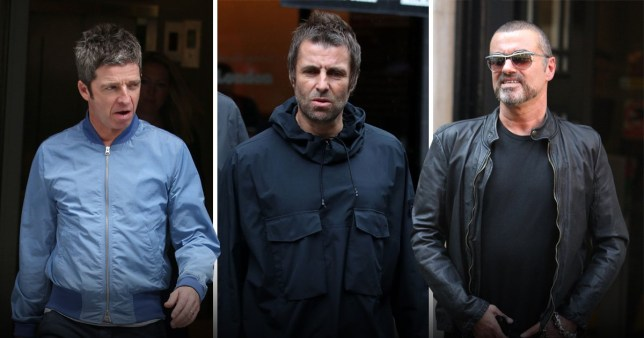 Liam Gallagher, Noel Gallagher and George Michael