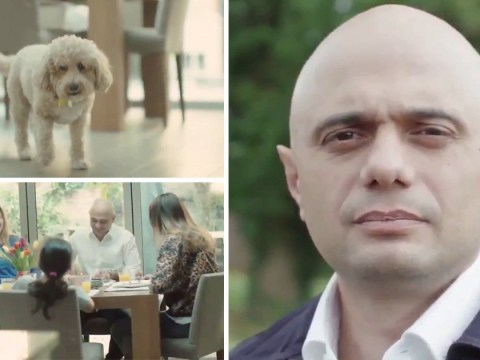 Sajid Javid shows off his Cavapoo in new campaign video to be PM
