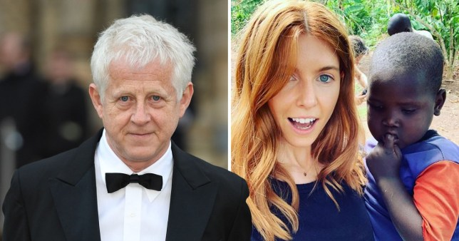 Richard Curtis and Stacey Dooley holding small Ugandan boy for Comic Relief