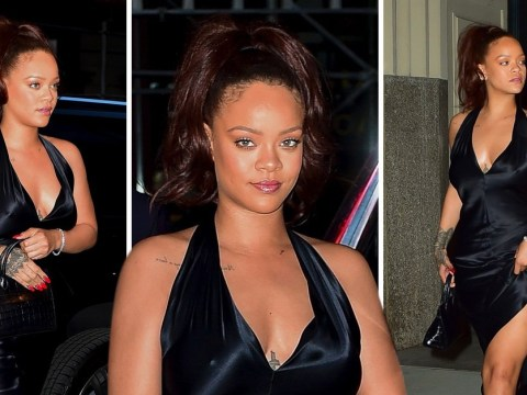 Rihanna steps out for dinner in New York City after romantic holiday with boyfriend Hassan Jameel