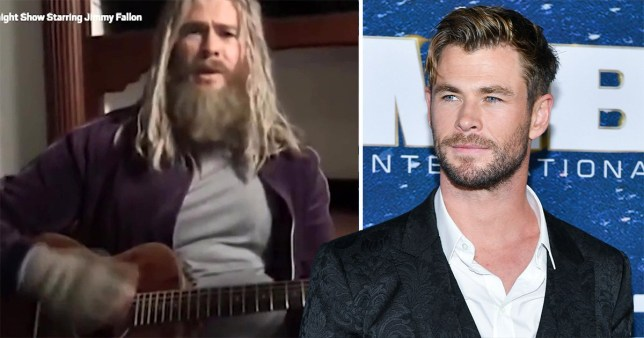 Chris Hemsworth as 'fat Thor'