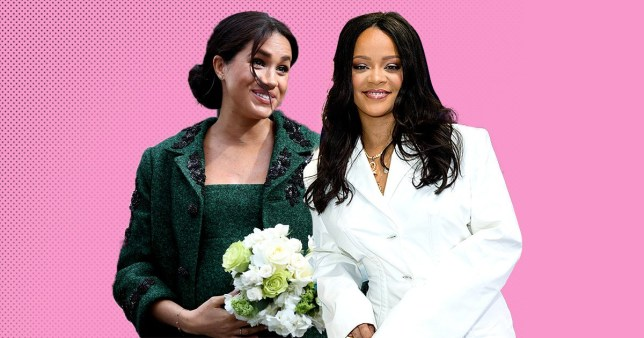 Rihanna and Meghan Markle, the Duchess of Sussex