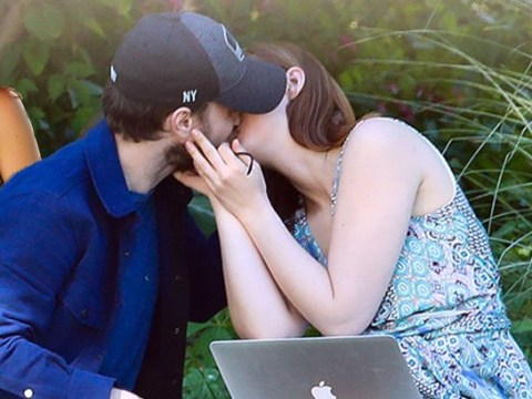 Daniel Radcliffe and girlfriend Erin Darke are stupidly cute as they kiss during park date