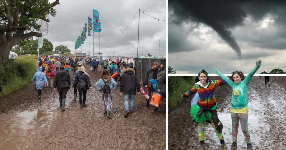 Festival washout after Isle of Wight tornado and heavy rain leaves people swimming in mud