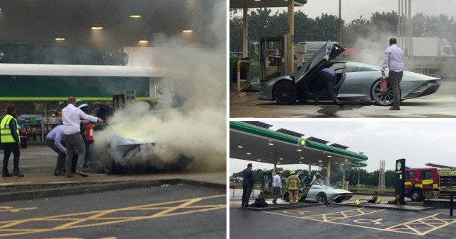 Moment £1,750,000 McLaren supercar goes up in smoke during test drive
