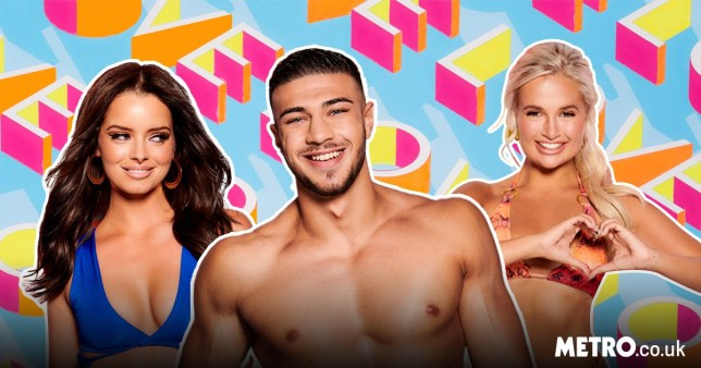 maura higgins, tommy fury and molly-mae hague from love island 2019