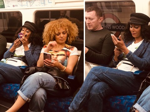 Mel B takes the tube for low-key arrival at Spice Girls show at London's Wembley Stadium