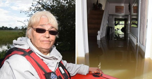 Jean Hart only has the clothes on her back after her Wainfleet home was flooded