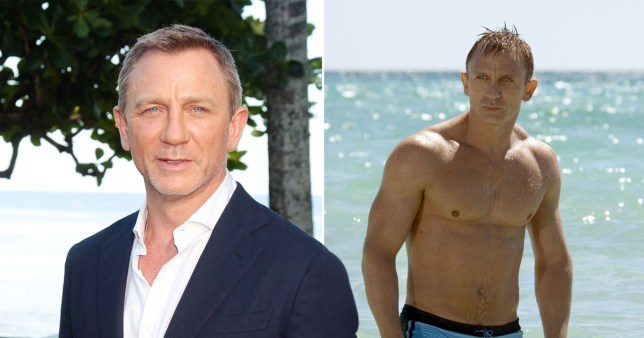 Daniel Craig is a trooper as he works out while sporting leg cast after ankle injury from Bond 25
