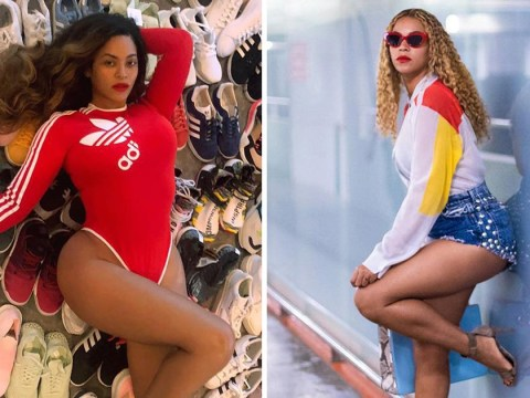 The flamingo Instagram pose is so effortless and sexy even Beyonce does it