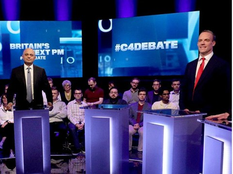 Empty podium left for Boris Johnson after he refused to appear on TV debate