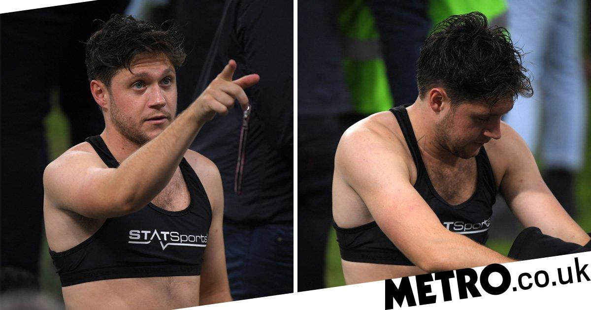 One Direction's Niall Horan rocks crop top at Soccer Aid | Metro News