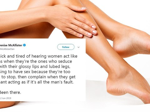 Right-wing author writes bizarre slut-shaming tweet about women seducing men with 'lubed legs'