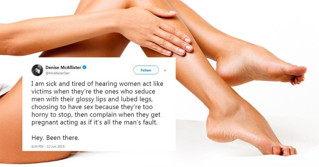 Picture of woman caressing smooth hairless legs