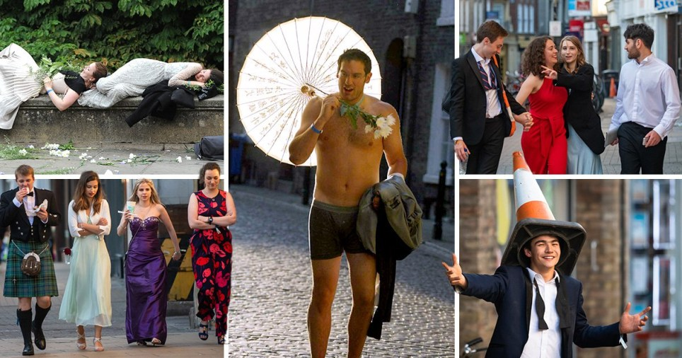 Following the end of exams, Cambridge University students splashed out on lavish balls (Picture: SWNS.com)