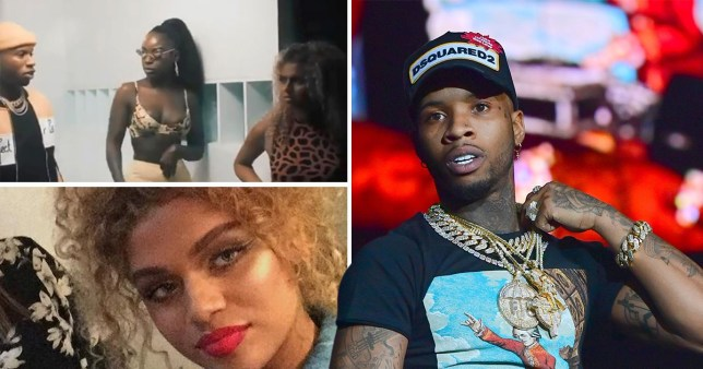 Tory Lanez and black model on set of Good Love music video