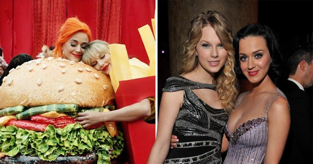 taylor swift and katy perry both before and after their feud