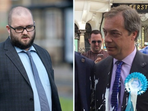 Nigel Farage milkshake attacker admits throwing Five Guys shake at Brexit leader