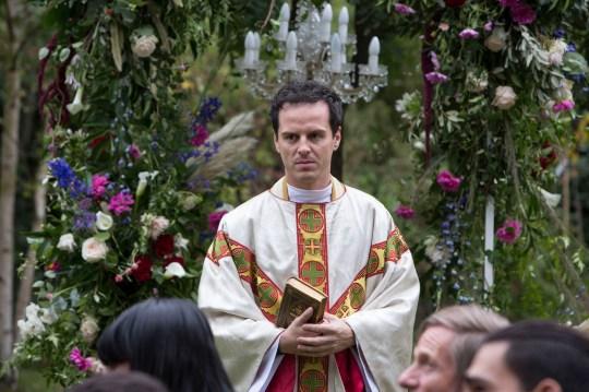 Andrew Scott as the Priest in Fleabag