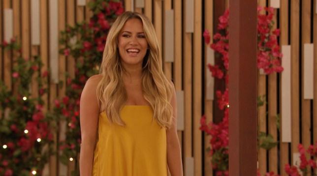 Caroline Flack in the Love Island villa