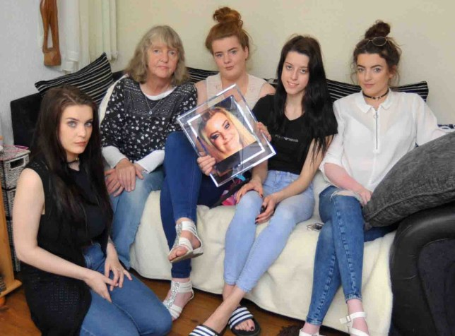 The family of a tragic mum who committed suicide after her benefits were stopped have received a full apology from the Department for Work and Pensions (DWP). An inquest heard Jodey Whiting's benefits were stopped because she missed a health assessment - despite her never seeing the appointment letter. The mum-of-nine and grandmother-of-ten took her own life in February 2017, but the DWP continued to send her letters and even left a voicemail on her phone three months after her death. Daughter Leah Bell, 19, Mam Joy Dove, 63, daughter Emma Bell, 23, niece Demi Wathen, 19, and daughter Chloey Bell, 17. Tribute with the family of Jodey Whiting, in Thornaby. *With video.