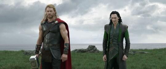Chris Hemsworth (Thor) and Tom Hiddleston (Loki)