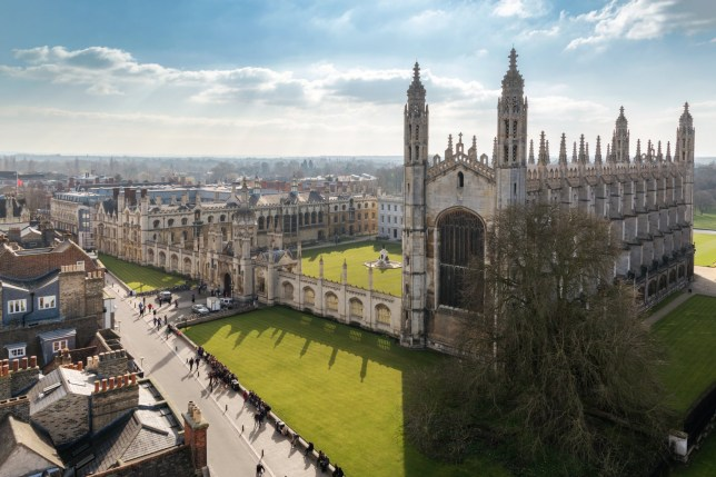 Cambridge University (King's College Chapel) Top View