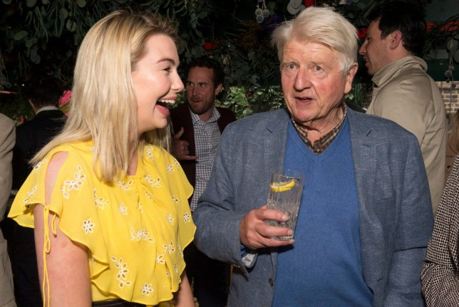 Mandatory Credit: Photo by Ray Tang/REX (10242001x) Georgia Toffolo and Stanley Johnson attend The Boisdale restaurant, Belgravia. The Botanist Garden celebrates the launch of The Botanist Islay Dry Gin Launch of The Boisdale Flower Show and The Launch of The Botanist Garden, London, UK - 20 May 2019