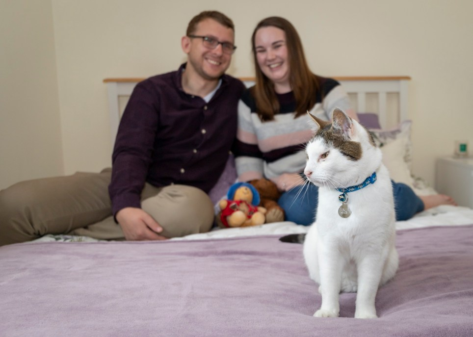 Fiona and Alex featuring Patch the cat What I Rent. Leeds, West Yorkshire - 27th May 2019 Carl Milner Photography for Metro.co.uk