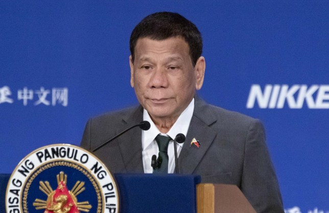 Mandatory Credit: Photo by Rodrigo Reyes Marin/ZUMA Wire/REX (10265803ag) Rodrigo Duterte 25th International Conference on The Future of Asia, 31 May 2019 The annual event invites leaders from Asian countries for two days to discuss issues that affect their countries including the Trans-Pacific Partnership trade agreement (TPP) and the influence of US-China trade war. The theme of this year is 'Seeking a new global order - Overcoming the chaos'