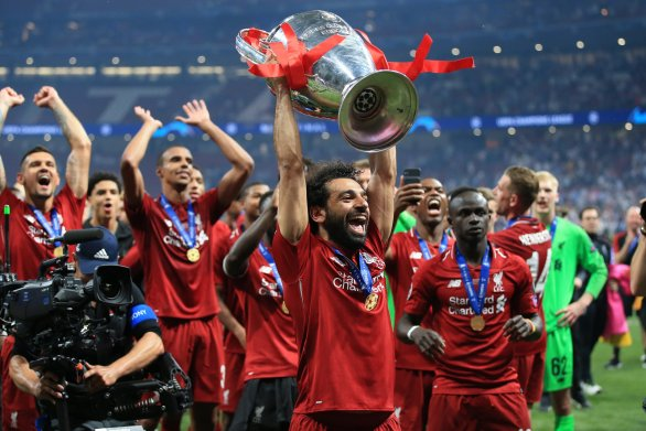 Mohamed Salah scored the opening goal in Liverpool's 2-0 win over Spurs in the Champions League final