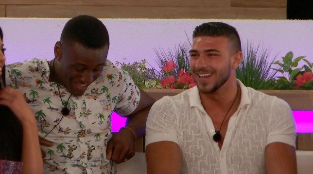 Editorial Use Only. No Merchandising. No Commercial Use. Mandatory Credit: Photo by ITV/REX (10266915bj) Sherif Lanre and Tommy Fury 'Love Island' TV Show, Series 5, Episode 1, Majorca, Spain - 03 Jun 2019 The Islanders Arrive and Couple Up Sherif Makes a Confession Lucie Proves Popular with the Boys A Meeting of Minds Between Two Islanders The Islanders Play 'Never have I Ever' Two Late arrivals Send Shockwaves Through the Villa