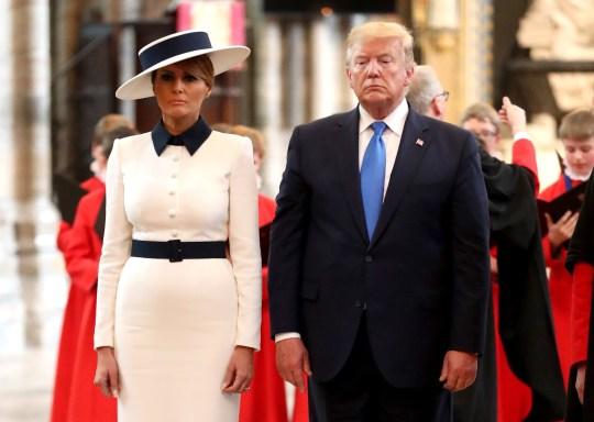 Donald and Melania Trump in London