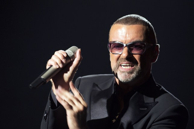 (Files) In this file picture taken on September 9, 2012, British singer George Michael performs on stage during a charity gala for the benefit of Sidaction, at the Opera Garnier in Paris. Today, Wednesday 29 May, 2013, the British pop singer was discharged from hospital after he was injured in a motorway car accident, according to a statement on his website. The 49-year-old star was airlifted to hospital two weeks ago with a head injuries. AFP PHOTO MIGUEL MEDINA (Photo credit should read MIGUEL MEDINA/AFP/Getty Images)