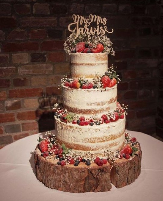 Wedding Cake Ideas Pinterest: 11 Naked Wedding Cakes To Fall In Love With