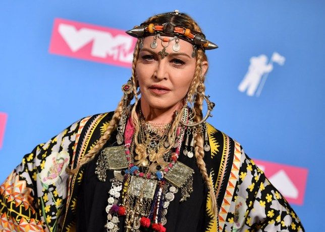 Madonna poses at the 2018 MTV Video Music Awards at Radio City Music Hall