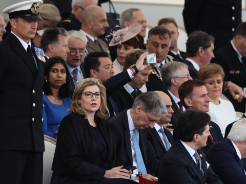 Awkward moment Tory leadership rivals have to sit together at D-Day service